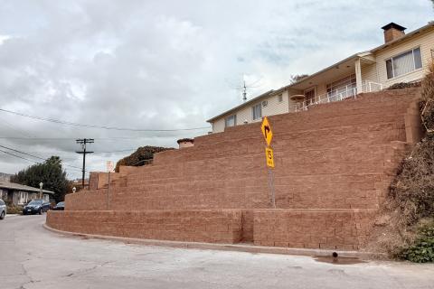 Retaining Wall in Los Feliz, California